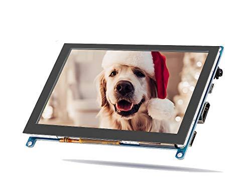 Bewinner Monitor HDMI (H) HDMI de 5 Pulgadas para Raspberry Pi Entrada HDMI 1080P Ángulo de visión...