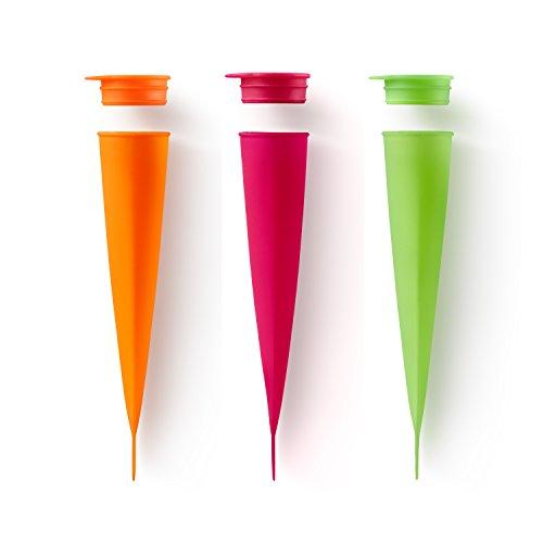 Lékué Molde Helado 3uds Surtidos Pack, Silicona, Multicolor, 3 Unidades