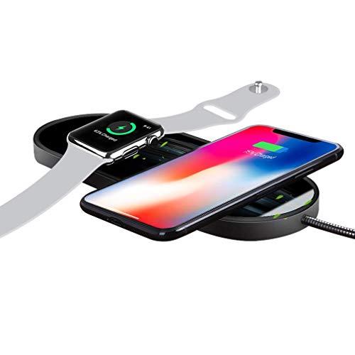 Sararoom Chargeur sans Fil Compatible pour iPhone 8/8 Plus/X/XR/XS et Apple Watch, Chargeur à Induction Rapide pour Samsung Galaxy Note et Autres appareils compatibles Qi