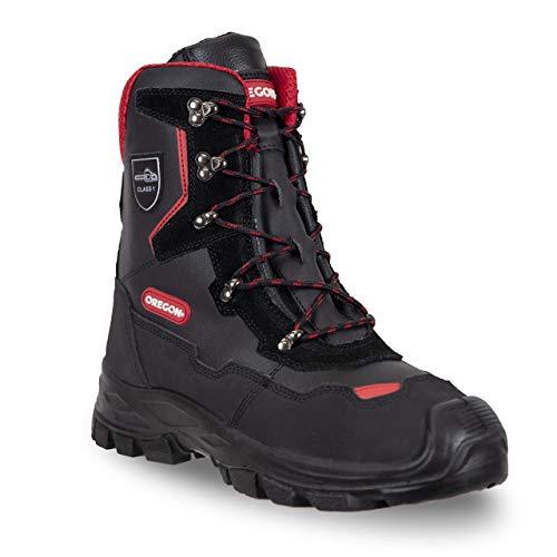OREGON Yukon Chaussures de Sécurité pour Tronçonneuse de Classe 1, Embout de Protection pour Orteils en Métal, Bottes de Protection Professionnelles Imperméables et Antistatiques, Taille : 43