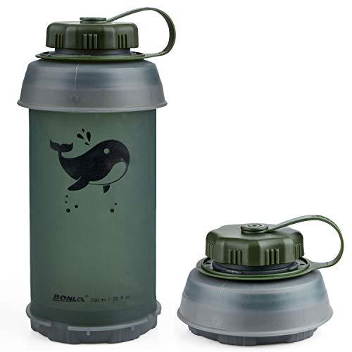 LouisaYork Gourde de voyage pliable 750 ml Bouteille de sport sans BPA,...
