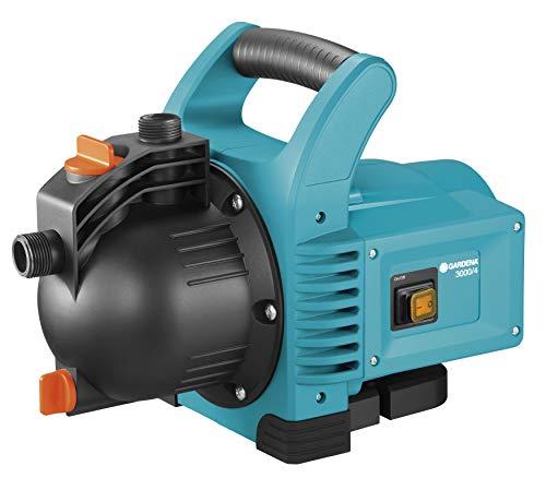 GARDENA Pompe d'Arrosage de jardin 3000/4 : puissance 600W, pression max. 3,5 Bar, Débit max. 3100 L/h (1707-20)