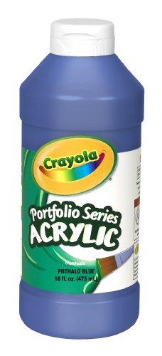 Crayola Portfolio Series 16-Ounce Acrylic Paint, Phthalo Blue