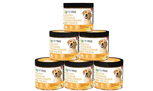 PetMio Bites - Human Grade Dog Treats, Banana Almond Butter Pumpkin Recipe
