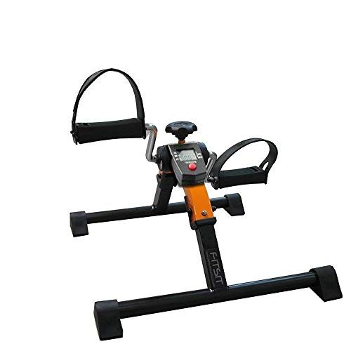 Platinum Fitness PFP2500 Fit Sit Deluxe Folding Pedal Exerciser Leg Machine with Electronic Display, Orange