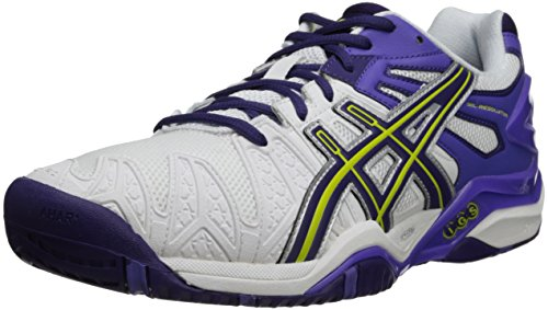 ASICS Women's GEL-Resolution 5 Tennis Shoe,Fuchsia/White/Silver,6 M US