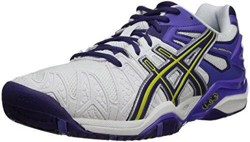 ASICS Women's GEL-Resolution 5 Tennis Shoe,Fuchsia/White/Silver,6 M US