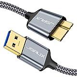 JSAUX Câble Disque Dur [1M+2M] Compatible avec USB 3.0 Câble USB 3.0 Mâle A...