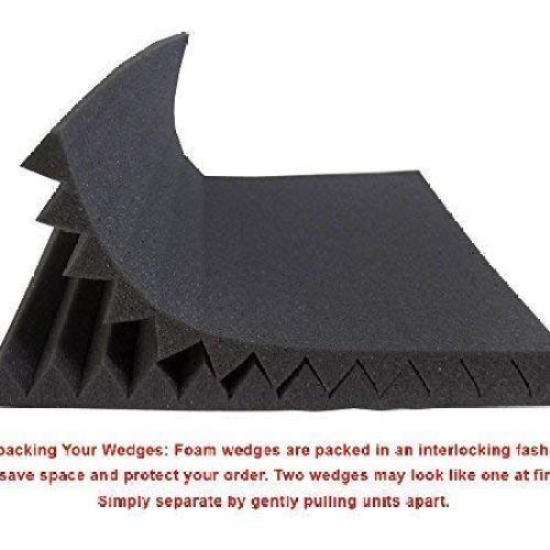 "Foamily 12 Pack- Acoustic Panels Studio Foam Wedges 1"" X 12"" X 12"""