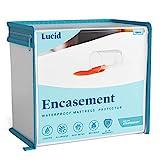 LUCID Encasement Mattress Protector - Completely Surrounds Mattress for Waterproof, Allergen Proof, Bed Bug Proof Protection -15 Year Warranty - Queen size