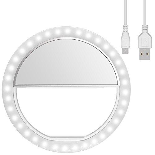 Diyife Selfie Ring Light, [Ultima Versione] Ricaricabile Luce Dell'Anello Selfie 3 Livelli di...