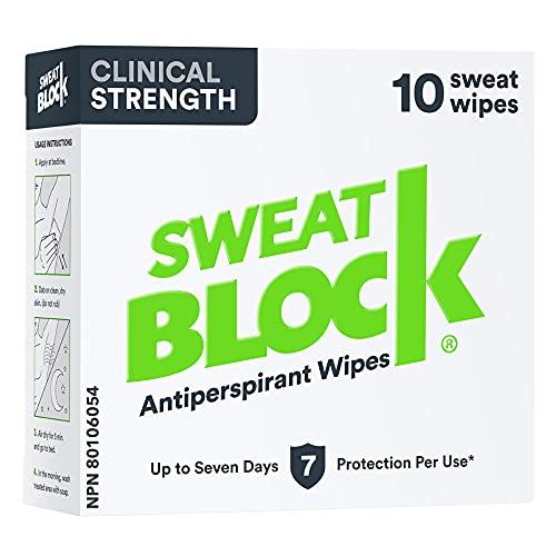 SweatBlock Clinical Strength Antiperspirant Wipes- Treat...