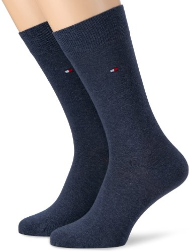 Tommy Hilfiger TH Men Sock Classic 2p Calzini, Blu (Jeans 356), 39-42 Uomo