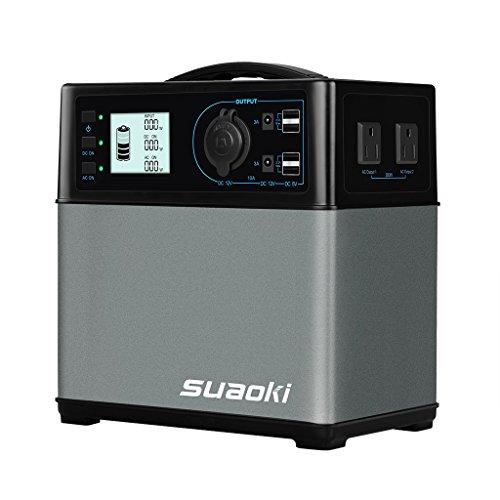 suaoki ポータブル電源 大容量120000mAh /400Wh 三つの充電方法 AC & DC & USBなど5WAY出力 正弦波 家庭用...