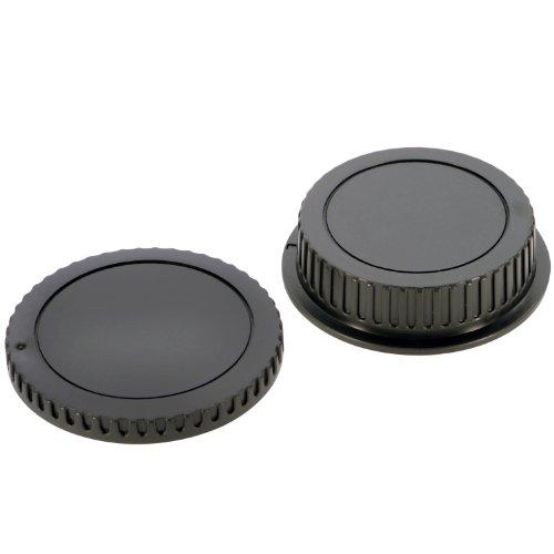 Canon キャノン EOS/EFマウント用 ボディ&レンズリアキャップセット 【非純正】