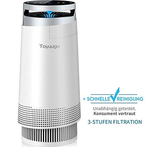 Luftreiniger, Toyuugo Anion air Purifier HEPA-Filter(99,97{b52d0e731470c7341c955ddeb5db769235585eac7822a499f5e15a857a53cc41} Filterleistung) mit Aktivkohlefilter mit LED Nacht Light für Allergiker und Raucher