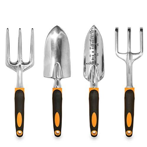 GardenHOME HR1912 - Set de 4 herramientas ergonómicas para jardín