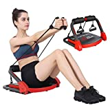 MBB Ab Crunch Machine,Exercise Equipment For Home Gym Equipment for Strength Training with Resistance Bands, Abs and Total Body Workout,Sole Brand and Patent Owner(Red)
