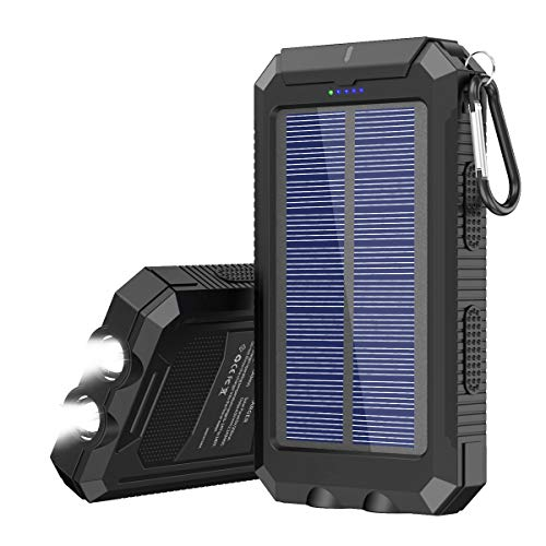 Solar Charger, 20000 mAh Portable Solar Power Bank for Cell Phone...