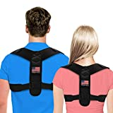 Posture Corrector For Men And Women - USA Patented Design - Adjustable Upper Back Brace For Clavicle Support...