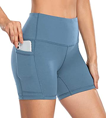 ✓ MOISTURE WICKING: Biker shorts are made of quick-drying fabric which is moisture wicking and keeps your skin dry. ✓ 4 WAY-STRETCH: The fabric to keep workout shorts / leggings stay up and in place, comfortable fit and allow for a wide range of move...