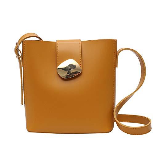 Kleine Frische Frauen Tasche Frau Lässig Schulter Tragbare Messenger Bag Mode Eimer Tasche Einfaches Kind Packag 1 X Umhängetasche Hellgelb