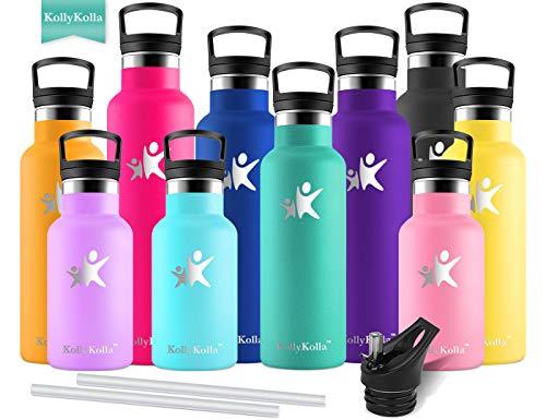 KollyKolla Gourde Inox Isotherme, Bouteille d'eau avec Paille & Filtre sans...