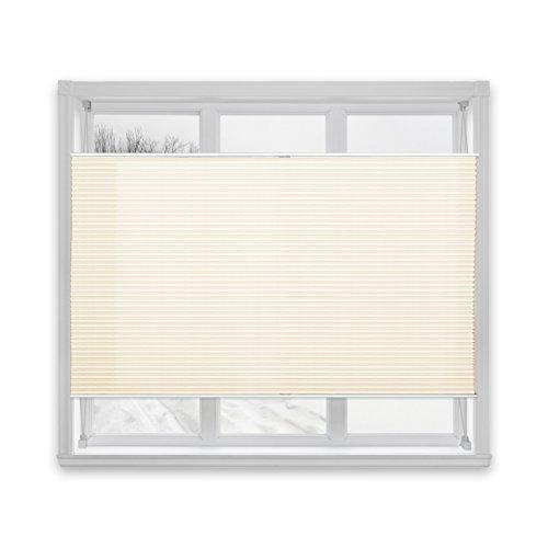 Floordirekt Plissee Rollo Magic | moderner Sichtschutz | Fensterrollo mit Klemmfix ohne Bohren | Klemmrollo | 7 Farben & viele Größen (80x100 cm, Weiß)