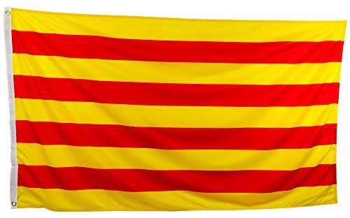 esvendio Bandera Catalana Grande Exterior 150 x 90 Centímetros