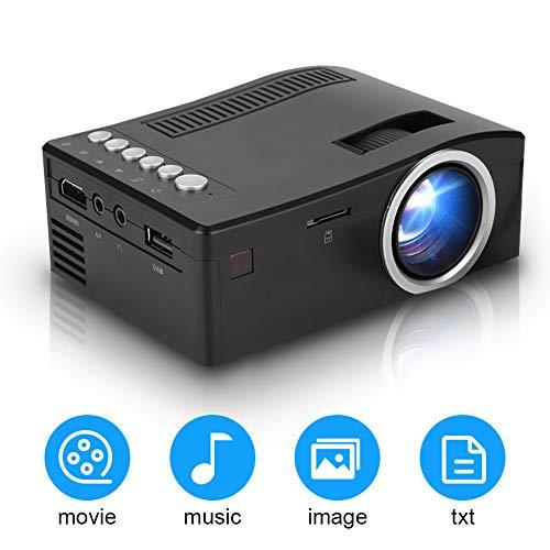 Tonysa Proiettore LED Portatile Proiettore Video AV/HDMI/USB/TF con Display da 180', Full HD 1080P...