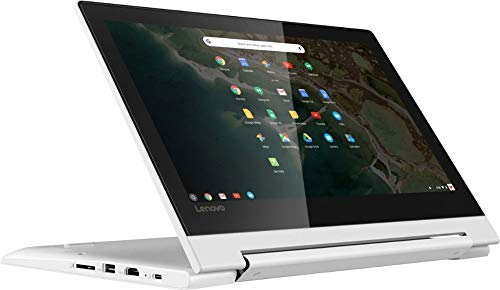 "2020 Lenovo 2-in-1 11.6"" Convertible Chromebook Touchscreen Laptop Computer/ Quad-Core MediaTek MT8173C (4C/ 2X A72 + 2X A53)/ 4GB Memory/ 32GB eMMC/ 802.11ac WiFi/ Bluetooth/ Type-C/ White/ Chrome OS"