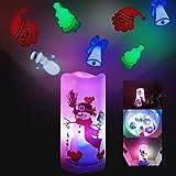 Lámpara de proyección LED, lámpara de proyección de Navidad, lámpara de proyección LED, lámpara de proyección de Halloween, decoración de interior, para Halloween, Navidad, Pascua, cumpleaños