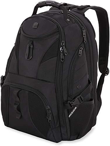 SWISSGEAR 1900 ScanSmart Laptop Backpack- Black/Black