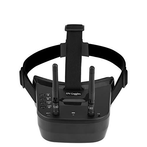 Occhiali video drone FPV VR SwagDrone 3 pollici leggeri con display 480 * 320 5.8G 40 canali Mini occhiali FPV Batteria incorporata 3.7V 1200mAh per FPV Racing Drone
