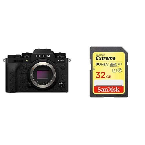FUJIFILM ミラーレス一眼カメラ X-T4ボディ ブラック X-T4-B+SDカードセット