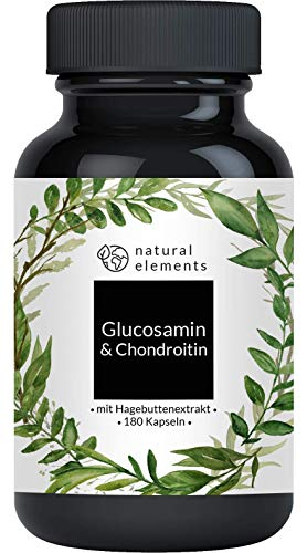 natural elements | Glucosamine & Chondroïtine | 180 capsules | Geproduceerd in Duitsland