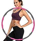 ulocool Hula Reifen Hoop Fitness zur Gewichtsreduktion und Massage, 6-8 Segmente Abnehmbarer Hoola Hoop für...