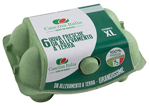 Cascina Italia 6 Uova Fresche Categoria A da Allevamento a Terra Grandissime - 438 gr