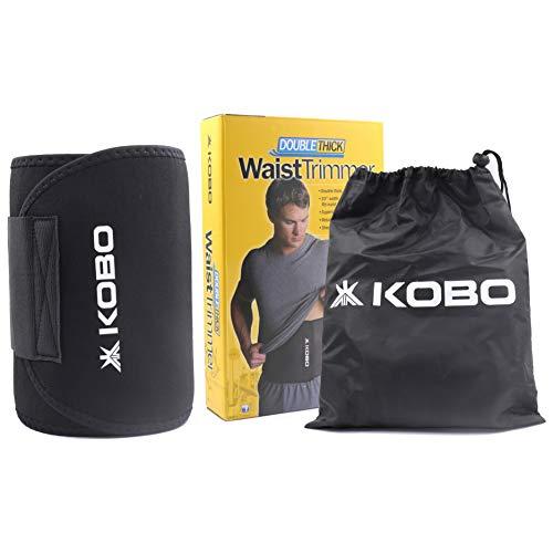 Kobo 3685 Premium Waist Trimmer Faster Weight Neoprene Loss Ab Belt Trainer, Sweat Wrap, Stomach...