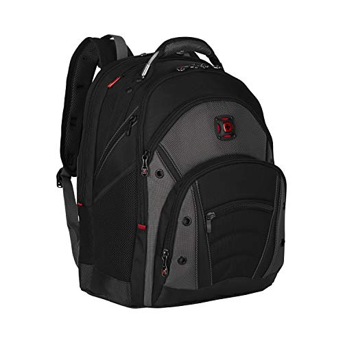 Wenger Synergy Padded Stabilizing Laptop Bag with Pass-Thru, Black/Grey, 16-inch