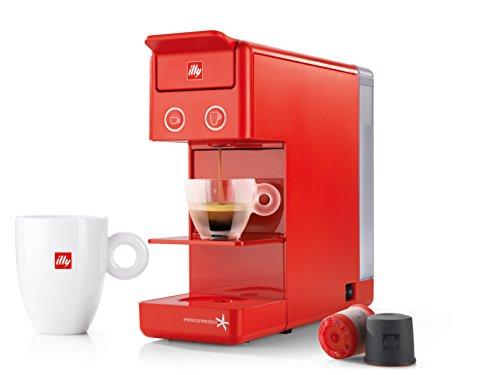 illy y3.2 Espresso and Coffee Machine, 12.20x3.9x10.40, Red