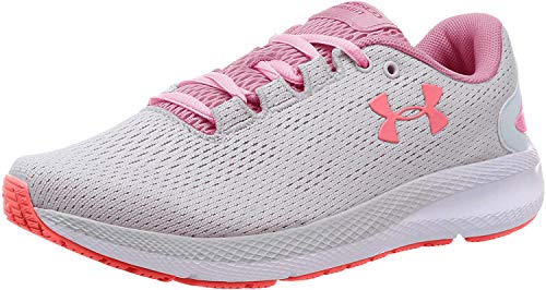 Under Armour Women's Charged Pursuit 2 Laufschuhe, Zapatillas de Running para Mujer, Gris (Halo Gray/White/Lipstick (102) 102), 39 EU
