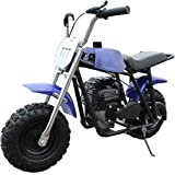 X-PRO 40cc Kids Mini Dirt Bike Pit Bike Gas Power Bike Off Road Motorcycle,Blue