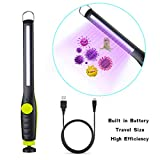 AuLinx Green-Yellow Potable UV Sanitizer with LED Ultraviolet Light Sterilization for Household Travel Hotel Disinfection Mite Removal Germ Virus Free Black