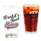 Worlds Best Murse Pint Glass, 16 oz. Drinking...