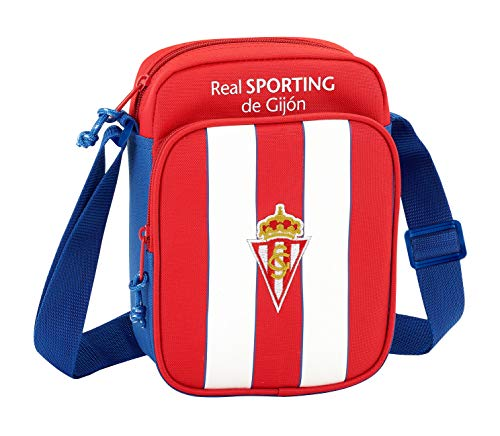 Safta Bandolera Real Sporting De Gijon Oficial Con Bolsillo Exterior 160x60x220mm