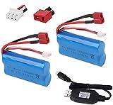 Sirecal 2 PCS 2S 7.4V 1500mAh Batterie Li-ION avec Chargeur de Batterie USB pour...