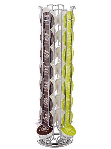 EXZACT EX-DG031-32 Porta capsule Compatibile con capsule caffè Dolce Gusto (32 pezzi) - Porta girevole per rack Pod