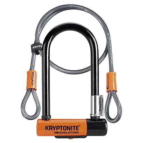 Kryptonite Evolution Mini-7 Serrure avec câble et support flexibles - Orange, 7 pouces