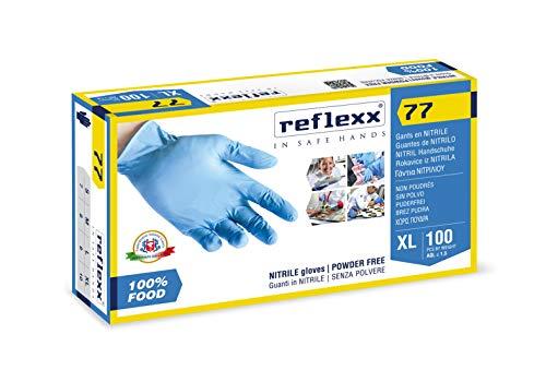 Reflexx 77 100 FOOD/L. Guanti in nitrile 3gr specifici per FOOD